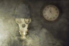 Die Drohung gegen Luftverschmutzung Lizenzfreies Stockfoto