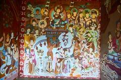 Die Dunhuang-Wandgemälde stockfotos