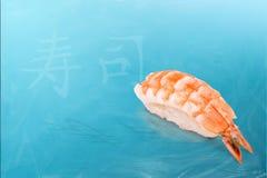 Die Ebi-Sushi Lizenzfreies Stockbild