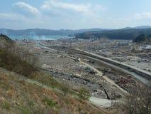 Die Effekte des Tsunamis in Japan Unfall trat in Japan im Jahre 2011 auf Lizenzfreies Stockbild