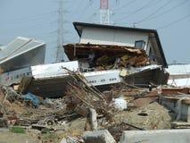 Die Effekte des Tsunamis in Japan Unfall trat in Japan im Jahre 2011 auf Stockfoto