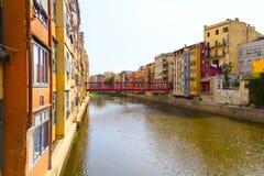 Die Eiffel-Brücke in Girona Lizenzfreie Stockfotografie