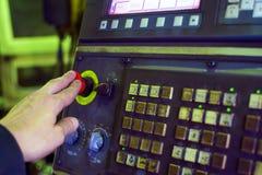 Die Einheit der Dateneingabe für Werkzeugmaschinen mit digitalem Management Weicher Fokus stockfoto