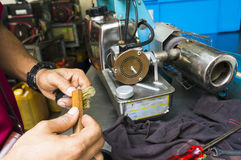 Die Einnebelung bearbeitet Ausrüstung maschinell, um für Tötungen Aedesmoskito zu verwenden Lizenzfreie Stockfotos