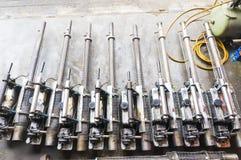 Die Einnebelung bearbeitet Ausrüstung maschinell, um für Tötungen Aedesmoskito zu verwenden Stockbilder