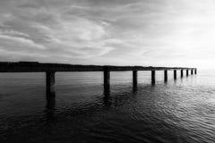 Die einsame Brücke Stockbilder