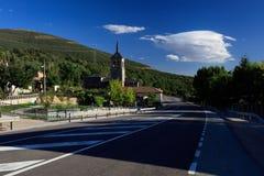 Die einsame Straße Stockfoto