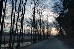 Die einsame Straße zum Himmel stockfoto