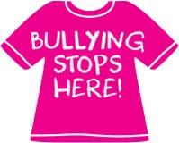 Die Einschüchterung stoppt hier - rosa Hemdtag Lizenzfreie Stockbilder