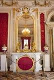 Die Einsiedlerei Der Winter Palast das Boudoir der Kaiserin Maria Alexandrovna, St Petersburg Russland Stockfotografie