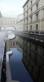 Die Einsiedlereibrücke, St Petersburg, Russland stockbild