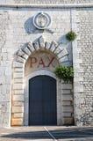 Die Einstiegstür der Abtei von Cassino Lizenzfreie Stockbilder