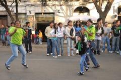 Die Einwohner der Stadt während des Karnevals zu Ehren der Jungfrau von Guadalupe Lizenzfreies Stockbild