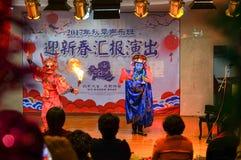 Die einzigartige F?higkeit von Sichuan-Oper lizenzfreie stockfotos