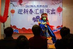 Die einzigartige F?higkeit von Sichuan-Oper lizenzfreies stockbild