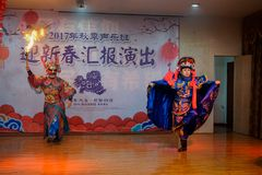 Die einzigartige F?higkeit von Sichuan-Oper lizenzfreie stockbilder