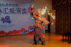 Die einzigartige F?higkeit von Sichuan-Oper stockfotografie