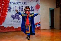 Die einzigartige F?higkeit von Sichuan-Oper stockfotos