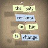 Die einzige Konstante im Leben ist Änderung lizenzfreie abbildung