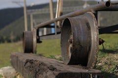 Die Eisenbahn in den Bergen Lizenzfreie Stockbilder