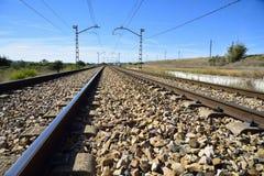 Die Eisenbahndrehungen Stockbild