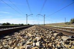 Die Eisenbahndrehungen Lizenzfreie Stockfotografie