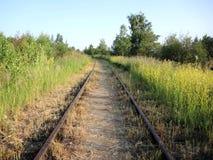 Die Eisenbahnlinie Lizenzfreie Stockfotos