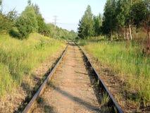 Die Eisenbahnlinie Stockfotografie