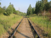 Die Eisenbahnlinie Lizenzfreie Stockbilder