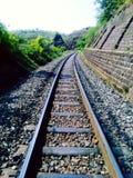 Die Eisenbahnlinie Stockfoto