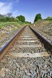 Die Eisenbahnspuren Stockbild