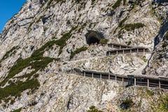 Die Eishöhle in Eisriesenwelt Werfen, Österreich Lizenzfreie Stockfotografie