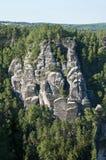 Die Elbe-Sandstein-Berge Stockfotografie