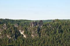 Die Elbe-Sandstein-Berge Lizenzfreie Stockfotografie