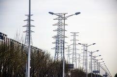 Die elektrische Energie Stockbild