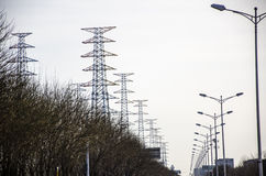 Die elektrische Energie Stockfotos