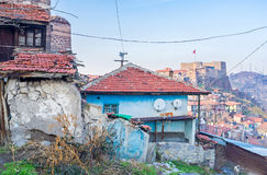 Die Elendsviertel in Ankara Stockfotografie