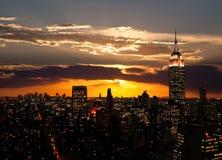 Die Empire State Building und das Manhattan Lizenzfreies Stockfoto