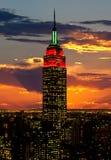 Die Empire State Building und das Manhattan Stockfotografie