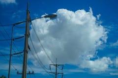 Die Energie der Wolken-Datenverarbeitung stockfotos