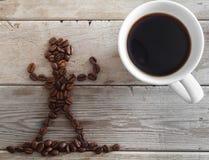 Die Energie des Kaffees Stockfotografie