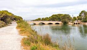 Die englische Brücke, Muro, Mallorca Stockfotos