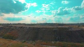 Die enorme Müllkippe, die Umweltkatastrophe unseres Planeten stock video footage