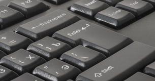 Die ENTER-Taste auf der Computertastatur Lizenzfreies Stockfoto