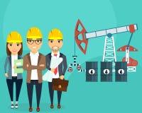 Die Entwicklung von Ölfeldern Lizenzfreie Stockfotos