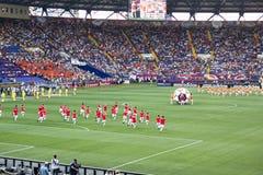 Die Eröffnungsfeier von Euro 2012 in Kharkiv lizenzfreies stockfoto