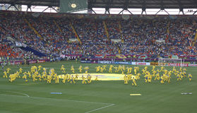 Die Eröffnungsfeier von Euro 2012 in Kharkov stockbilder