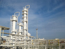 Die Erdölraffinerie Lizenzfreies Stockfoto