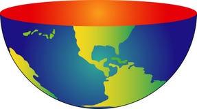 Die Erde geschnitten lizenzfreie abbildung