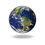 Die Erde lokalisiert in der Erde lokalisiert im Hintergrund Lizenzfreies Stockbild